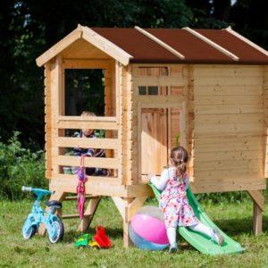 בית עץ לילדים דגם M501c כולל מגלשה