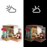 ערכת יצירה בית קפה עם תאורה